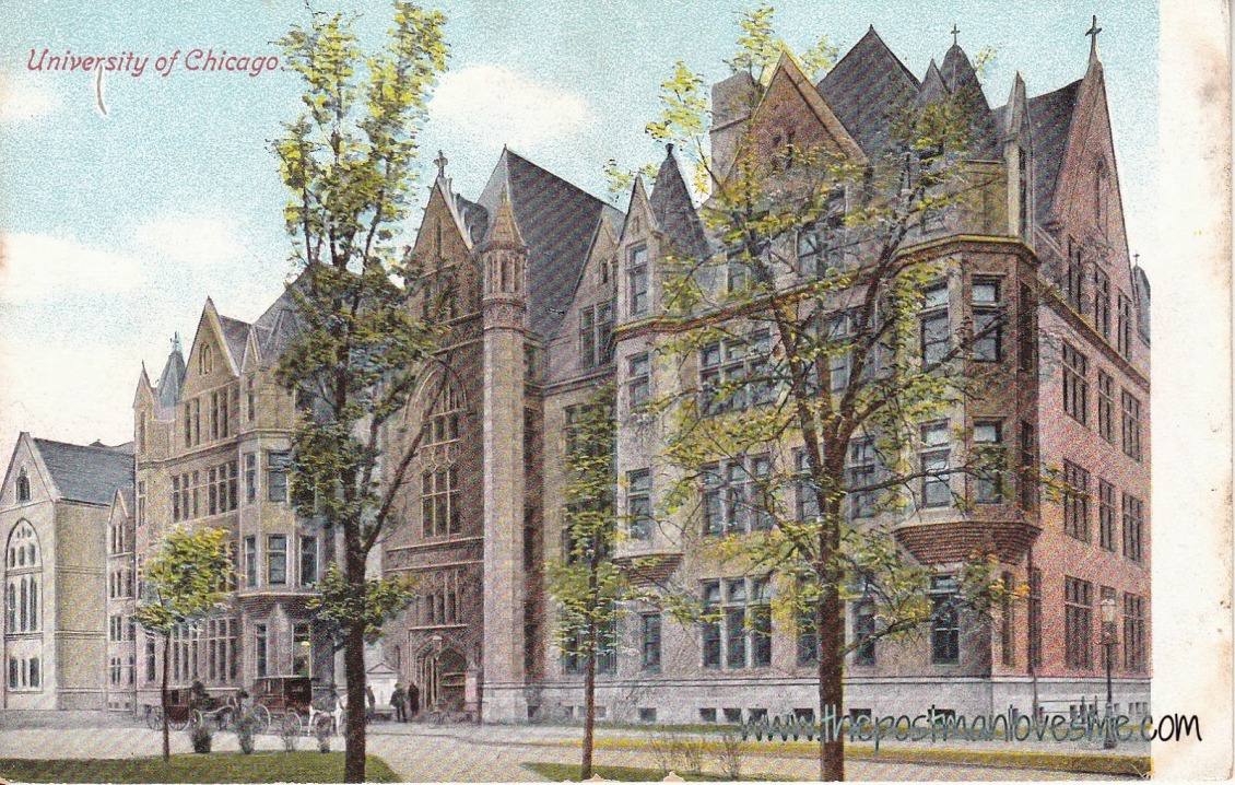 Cobb Lecture Hall, University of Chicago Vintage Postcard