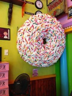 Big Honking Donut at VooDoo Doughnuts