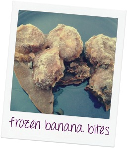 frozen chocolate banana bites