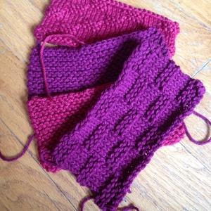 knit a brick squares