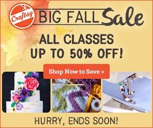 craftsy fall sales