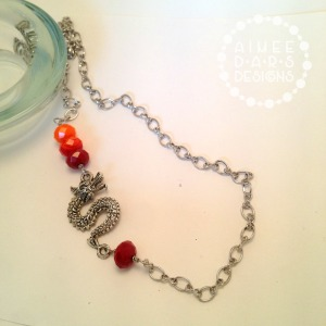 Mother of Dragons Game of Thrones Inspired Necklace by Aimee Dars Designs